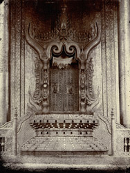 King Thibaw's Throne in the Palace, Mandalay